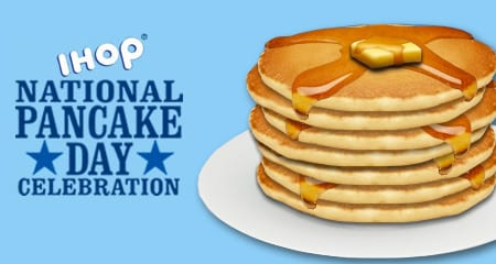 Get your free pancakes at IHOP today